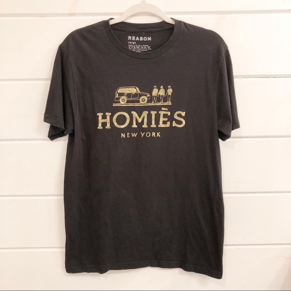 Reason Other - Homies New York Tee Black/Gold